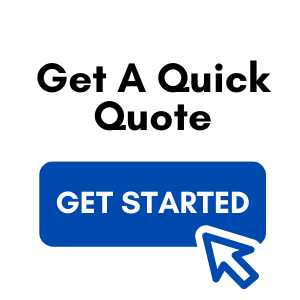 """The text """"Get a Quick Quote"""" and a blue """"Get Started"""" button with a mouse pointer placed on it, against a checkered background"""